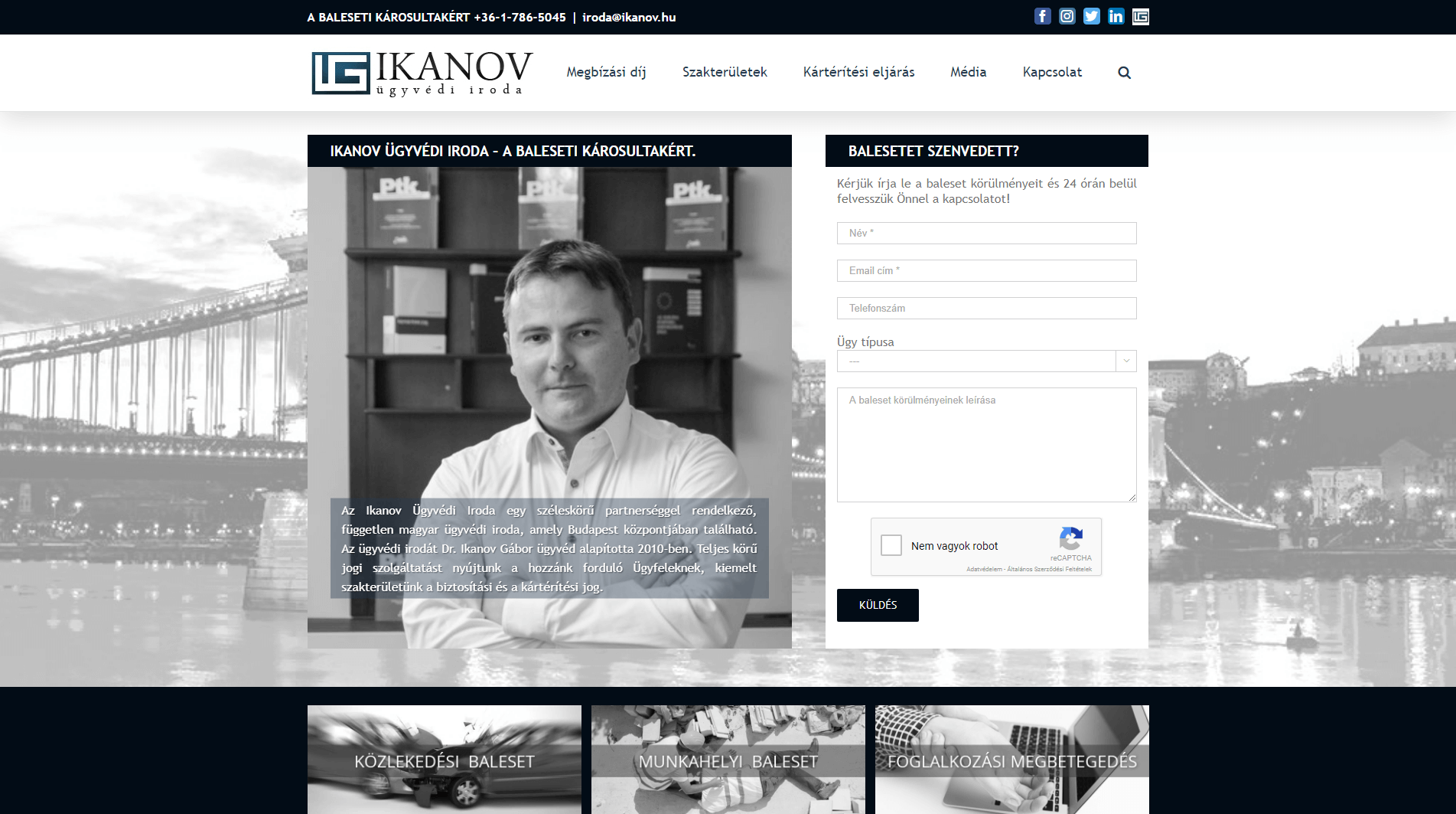 WordPress Specialista - Ikanov Ügyvédi Iroda weboldal készítés